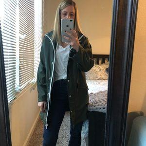 Penfield green raincoat